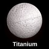 Icona di titanio, stile realistico illustrazione di stock