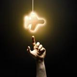Icona di tocco del dito Fotografia Stock Libera da Diritti