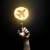 Icona di tocco del dito Immagini Stock