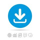 Icona di trasferimento dal sistema centrale verso i satelliti Carichi il bottone Fotografia Stock