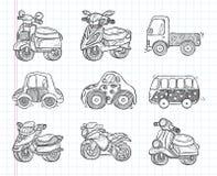 Icona di trasporto di scarabocchio Fotografia Stock Libera da Diritti