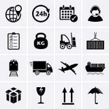 Icona di trasporto e di logistica Fotografie Stock Libere da Diritti