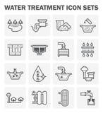 Icona di trattamento delle acque illustrazione di stock