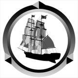 Icona di una barca a vela Immagine Stock Libera da Diritti
