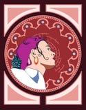 Icona di una ragazza graziosa Immagine Stock