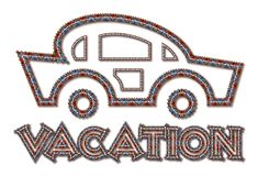 Icona di vacanza Fotografia Stock