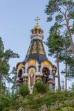 Icona di Valaam della cappella della madre di Dio Fotografie Stock