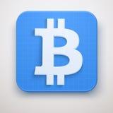 Icona di valuta finanziaria Bitcoin Fotografia Stock Libera da Diritti