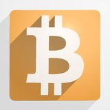 Icona di valuta finanziaria Bitcoin Fotografia Stock