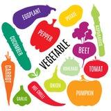 Icona di verdure di vettore Immagini Stock