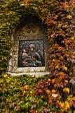 Icona di vergine Maria con Cristo su una parete della chiesa alla fortezza di Kalemegdan, Belgrado Immagini Stock Libere da Diritti
