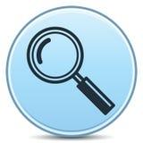 Icona di vetro del Magnifier Fotografie Stock Libere da Diritti