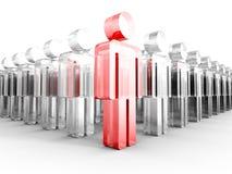Icona di vetro di Team Group With Red Leader Immagine Stock