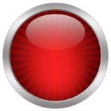 Icona di vetro rossa Fotografia Stock