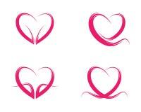 Icona di vettore di amore di bellezza fotografie stock libere da diritti
