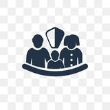 Icona di vettore di assicurazione isolata su fondo trasparente, Insura illustrazione vettoriale