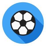 Icona di vettore di calcio, icona del pallone da calcio, simbolo della palla di sport Icona lunga moderna e piana di vettore dell illustrazione vettoriale