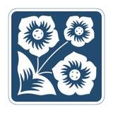 Icona di vettore con i fiori Fotografie Stock