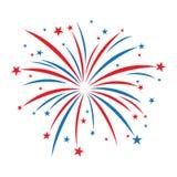 Icona di vettore dei fuochi d'artificio Immagine Stock Libera da Diritti