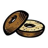 Icona di vettore del bagel Immagine Stock Libera da Diritti
