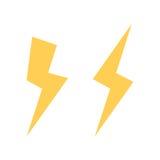 Icona di vettore del bullone di fulmine Icona istantanea Bolt del vettore del fulmine Striscia del segno leggero Icona elettrica  illustrazione vettoriale