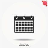 Icona di vettore del calendario Immagini Stock