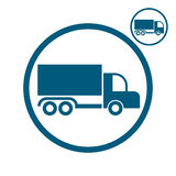 Icona di vettore del camion Fotografie Stock