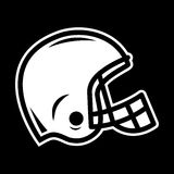 Icona di vettore del casco di calcio Fotografia Stock Libera da Diritti
