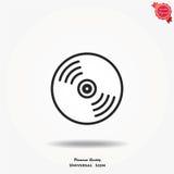 Icona di vettore del compact disc Immagini Stock