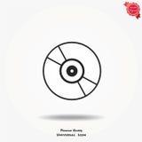 Icona di vettore del compact disc Immagine Stock