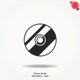 Icona di vettore del compact disc Fotografie Stock Libere da Diritti