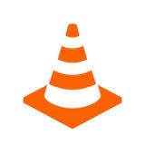 Icona di vettore del cono della costruzione Immagini Stock
