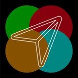 Icona di vettore del cursore illustrazione vettoriale