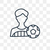 Icona di vettore del giocatore di football americano isolata su fondo trasparente, illustrazione di stock