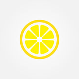 Icona di vettore del limone isolata su fondo bianco illustrazione di stock