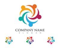 Icona di vettore del modello di logo di cura della Comunità royalty illustrazione gratis