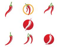 Icona di vettore del modello di logo del peperoncino rosso Fotografie Stock