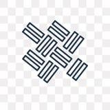 Icona di vettore del parquet isolata su fondo trasparente, P lineare royalty illustrazione gratis