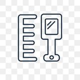 Icona di vettore del pettine isolata su fondo trasparente, pettine lineare illustrazione di stock