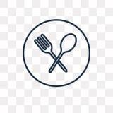 Icona di vettore del ristorante su fondo trasparente, linea illustrazione vettoriale