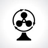 Icona di vettore del ventilatore della Tabella Immagine Stock