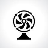 Icona di vettore del ventilatore di fan dello scrittorio Fotografie Stock
