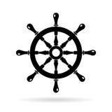 Icona di vettore del volante della barca royalty illustrazione gratis