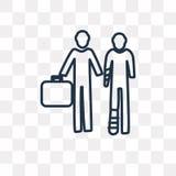 Icona di vettore dell'agente di assicurazione isolata su fondo trasparente, illustrazione vettoriale