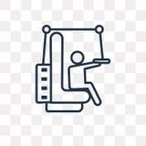 Icona di vettore dell'apparecchiatura di addestramento isolata su backgroun trasparente illustrazione di stock