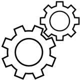 Icona di vettore dell'ingranaggio Fotografia Stock