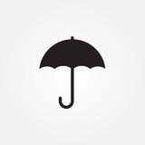 Icona di vettore dell'ombrello isolata su fondo bianco Fotografia Stock Libera da Diritti