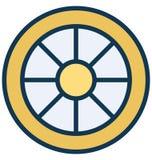 Icona di vettore dell'orlo di Aly che può essere modificata o pubblicare facilmente in tutto il colore illustrazione vettoriale