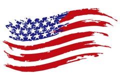 Icona di vettore della bandiera di U.S.A. Fotografie Stock