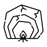 Icona di vettore della caverna illustrazione vettoriale